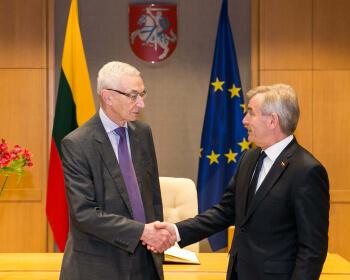 Председатель Сейма Литвы проф. Викторас Пранцкетис выразил поддержку миссии ЕГУ