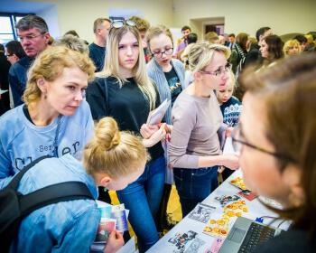 Весенние Дни открытых дверей ЕГУ собрали около ста абитуриентов и их родителей