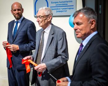 Европейский гуманитарный университет открыл новый корпус в Старом городе Вильнюса