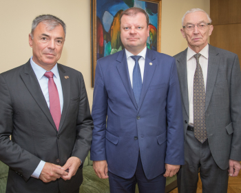 Премьер-министр Литвы Саулюс Сквернялис: «Правительство Литвы заинтересовано в успешной деятельности ЕГУ»