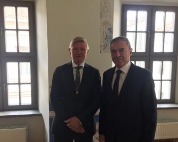 Посол Норвегии в Литве посетил ЕГУ